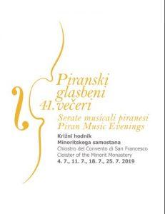 41. Piranski glasbeni večeri @ Križni hodnik Minoritskega samostana, Piran