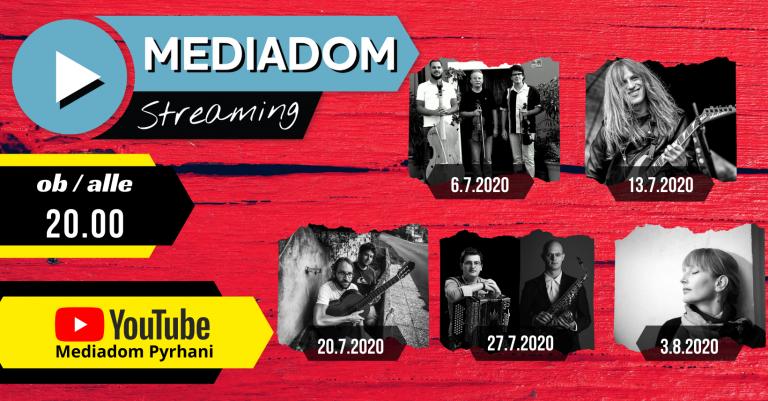 Mediadom Streaming 2.0 – drugi sklop, ki bo ponovno pospremil sprostitev ukrepov za prireditve!