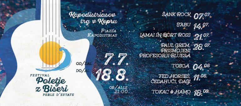 Začenja se festival Poletje z biseri 2021